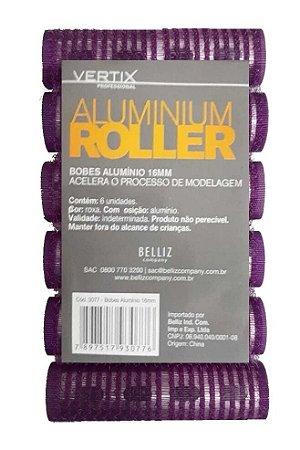 VERTIX Aluminium Roller Bob de Alumínio com Velcro 16mm Lilás 6un (3077)
