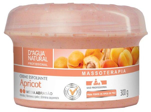 D'ÁGUA NATURAL Massoterapia Creme Esfoliante Apricot Média Abrasão 300g