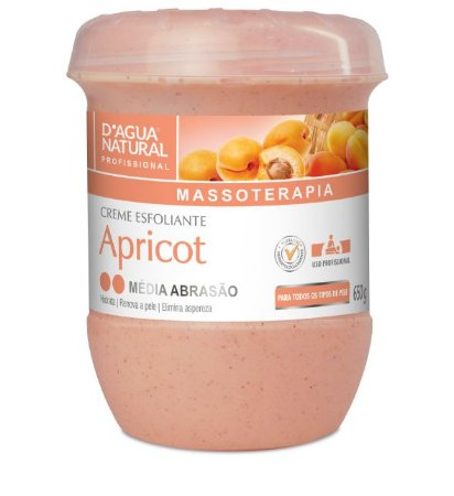D'Água Natural Creme Esfoliante Apricot Média Abrasão para Peles Normais 650g