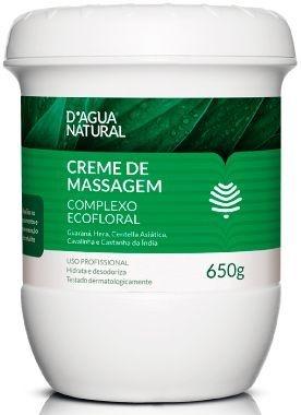 D'Água Natural Creme de Massagem Complexo Ecofloral 650g
