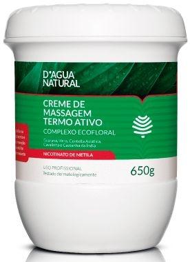D'Água Natural Creme de Massagem Termo Ativo Complexo Ecofloral - 650g