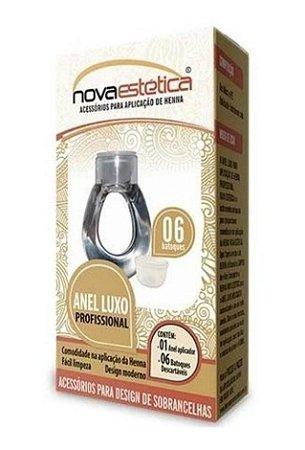 NOVA ESTÉTICA Anel Profissional Luxo para Aplicação de Henna