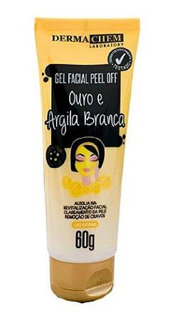 DERMACHEM Gel Facial Peel Off Ouro e Argila Branca 60g