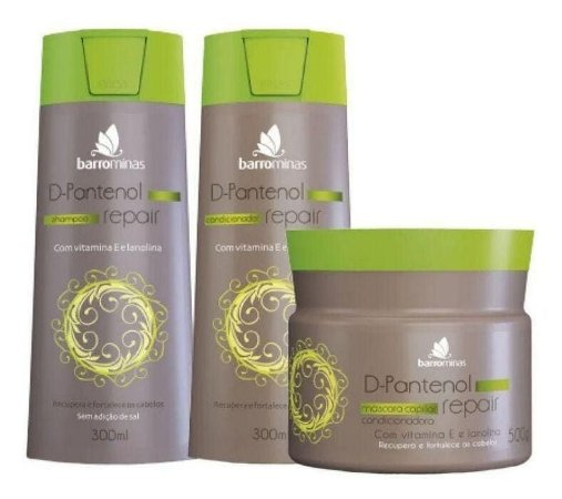 BARROMINAS D-Pantenol Repair Kit Pontas Duplas Shampoo + Condicionador + Máscara