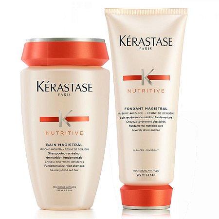 Kérastase Nutritive Magistral para Cabelos Severamente Ressecados Shampoo 250ml + Condicionador 200ml