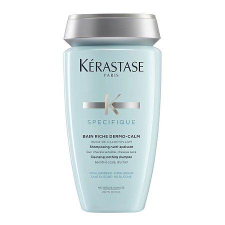 Kérastase Spécifique Riche Dermo-Calm Bain Shampoo Couro Sensível Cabelos Secos - 250ml