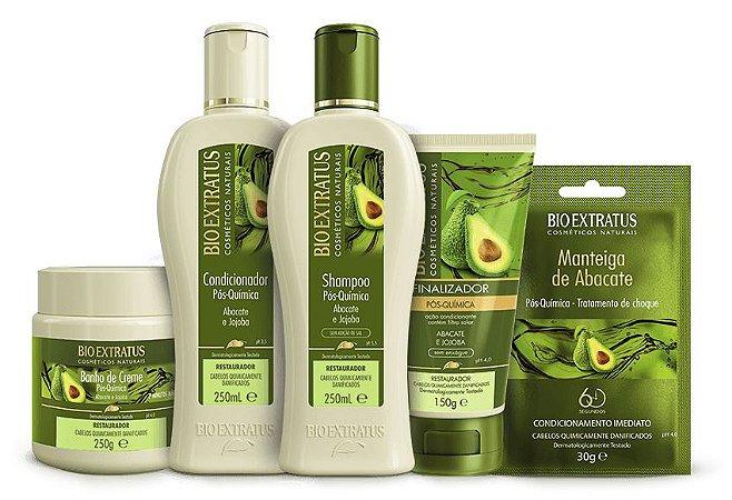 Bio Extratus Abacate Pós-Química Kit Completo Consumidor (5 Produtos)