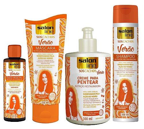 Salon Line SOS Cachos Verão Kit Completo (4 produtos)