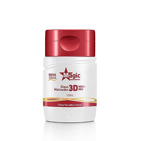 Magic Color Gloss Matizador 3D Mega Red Efeito Vermelho Intenso - 100ml
