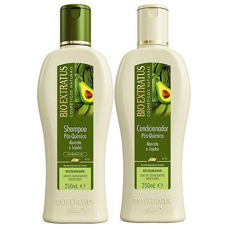 BIO EXTRATUS Pós-química Abacate para Cabelos Danificados por química Shampoo + Condicionador 250ml