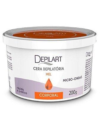 Depilart Cera Depilatória Corporal para Micro-ondas com Mel 200g