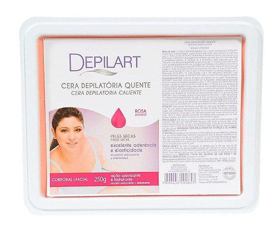 DEPILART Cera Depilatória Quente com Rosa 250g
