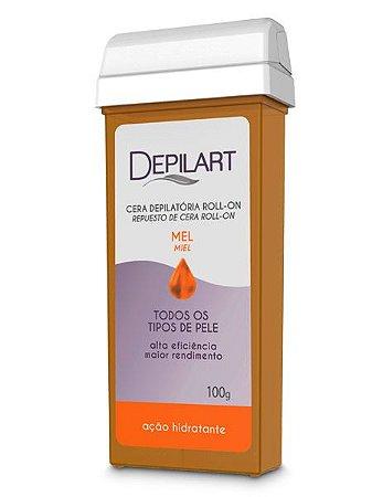Depilart Cera Depilatória Roll-On com Mel para todos os tipos de pele Refil 100g