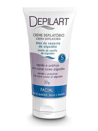 Depilart Creme Depilatório Facial - 30g - Algodão