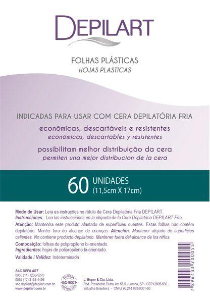 Depilart Folha Plástica para Depilação - 60un