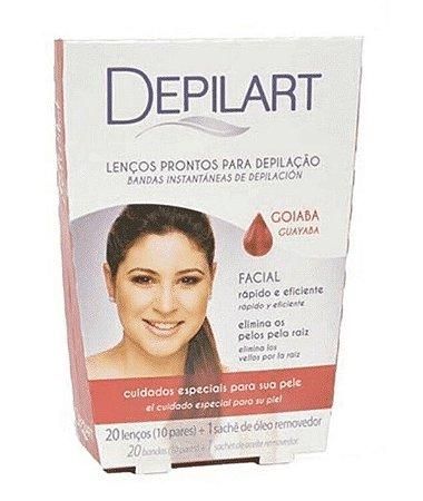 DEPILART Lenços Prontos para Depilação Facial Goiaba 20un