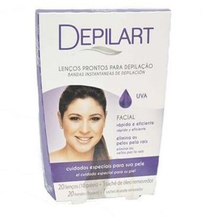DEPILART Lenços Prontos para Depilação Facial Uva 20un