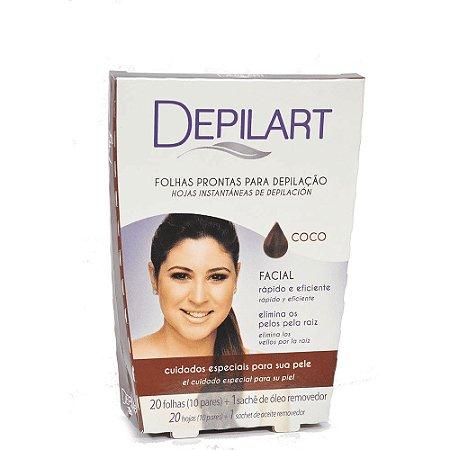 DEPILART Lenços Prontos para Depilação Facial Coco  20un