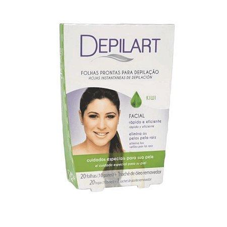 DEPILART Lenços Prontos para Depilação Facial Kiwi 20un