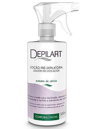 DEPILART Loção PréDepilatória  Extrato de Sálvia  500ml
