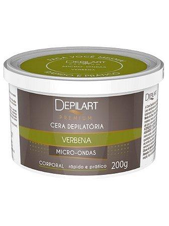 Depilart Premium Cera Depilatória Micro-ondas - 200g - Verbena