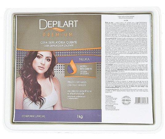 DEPILART Premium Cera Depilatória Quente Negra 1kg (vencimento 08/21)