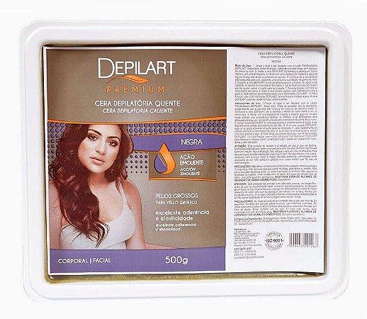 DEPILART Premium Cera Depilatória Quente Negra 500g