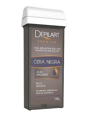 DEPILART Premium Cera Depilatória Roll-On Negra 100g