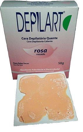 DEPILART Cera Depilatória Quente com Rosa  para Peles Secas 50g