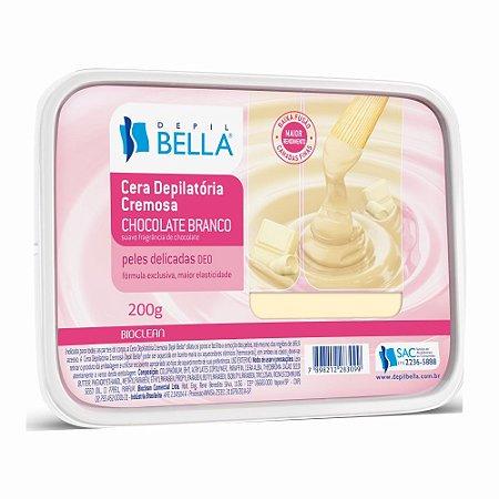 Depilbella Cera Depilatória em Discos Chocolate Branco - 200g