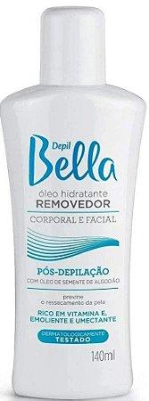 DEPIL BELLA Óleo Hidratante Removedor Corporal e Facial com Óleo de Semente de Algodão 140ml