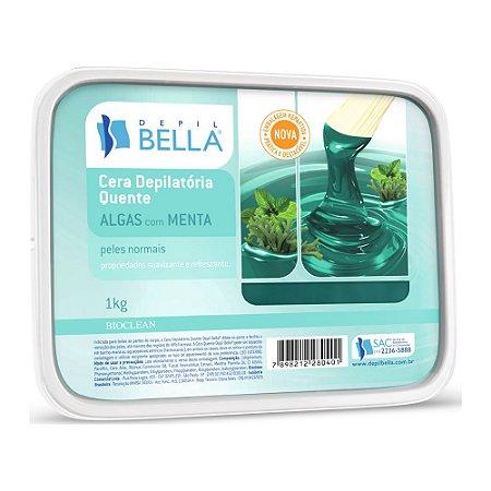 Depilbella Cera Depilatória Quente Algas com Menta - 1Kg