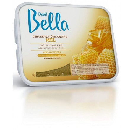Depilbella Cera Depilatória Quente Mel - 1Kg