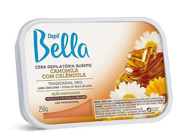 DEPIL BELLA Cera Depilatória Quente Camomila e Calêndula 250g