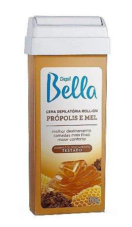 DEPIL BELLA Cera Depilatória Roll-on  Propolis e Mel 100g