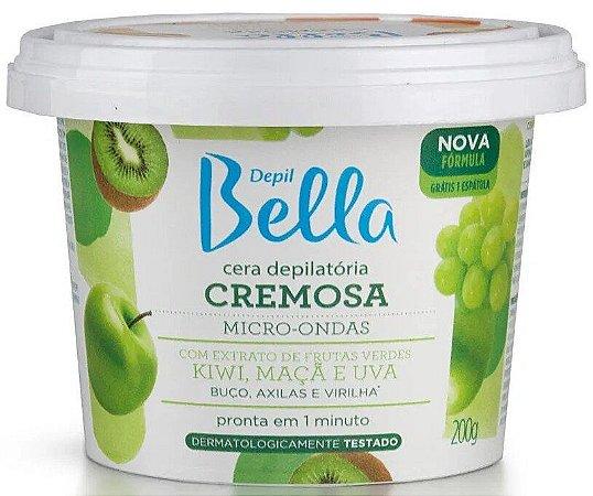 DEPIL BELLA Cera Depilatória Cremosa Micro-Ondas Frutas Verdes 200g
