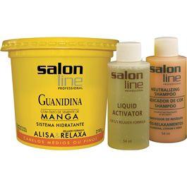 Salon Line Guanidina Manga - Regular Cabelos Médios ou Finos - 218g