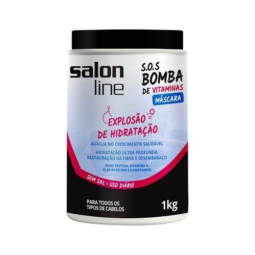 Salon Line SOS Bomba de Vitaminas Máscara - Explosão de Hidratação - 1Kg