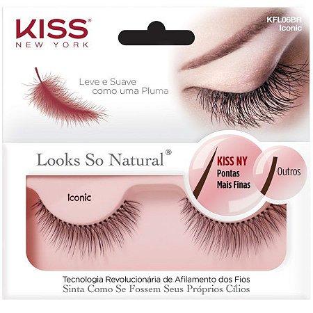 Kiss New York Cílios Postiços Looks So Natural Iconic (KFL06BR)