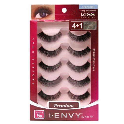 Kiss New York i.Envy Cílios Postiços Multi-Pack Juicy Volume 02 (KPEM13BR) 5 Pares