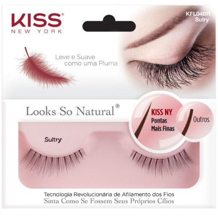Kiss New York Cílios Postiços Looks So Natural Sultry (KFL04BR)