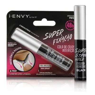 Kiss New York i.Envy Super Strong Hold Eyelash Adhesive Cola 48h Black Preta (KPEG05BR)