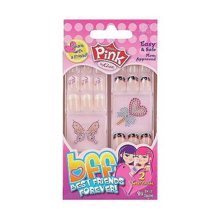 Kiss NY Unhas Postíças Infantil Pink BFF Generosity 28Un (PBF03BR)