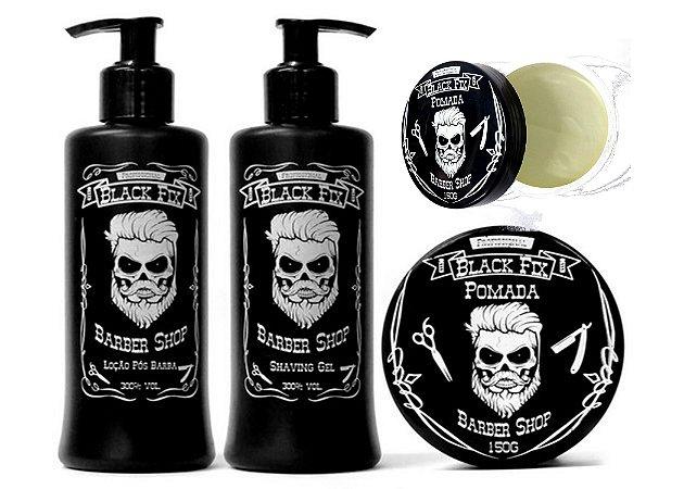 BLACK FIX Barber Shop Kit Masculino Cabelo e Barba Claros