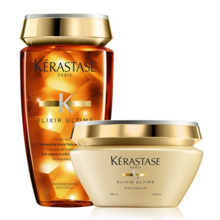 Kérastase Elixir Ultime Kit Oléo-Riche  Bain 250ml + Masque 200ml - Cabelos Grossos