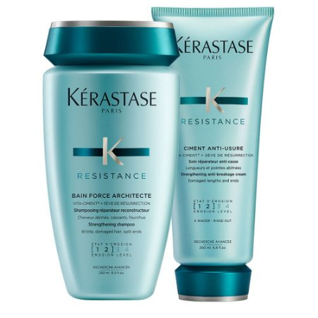 Kérastase Resistance Force Architecte Bain 250ml + Ciment Anti-Usure 200ml