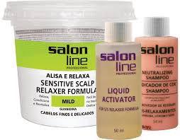 SALON LINE Guanidina Tradicional - Mild - Cabelos Finos e Delicados - 215g