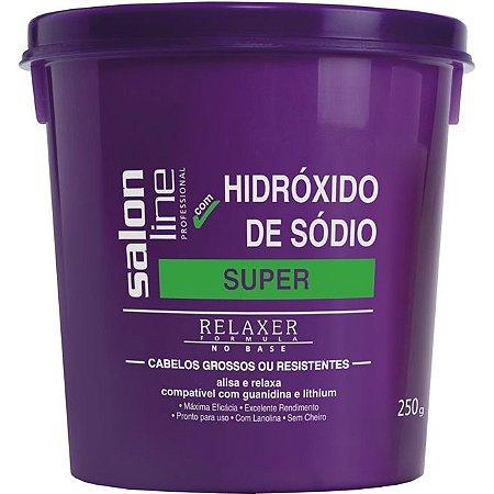 Salon Line Hidroxido Sódio Tradicional Super - Cabelos Grossos e Resistentes- 250g