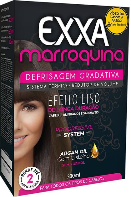 SALON LINE Kit Defrisagem Gradativa Exxa Marroquina - 330ml