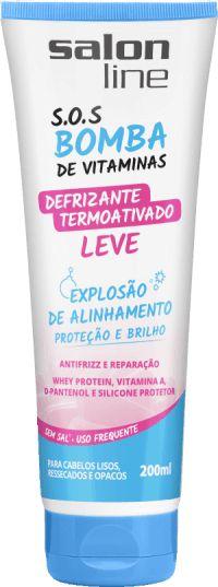 Salon Line SOS Bomba Defrizante - Leve Termoativado - 200ml
